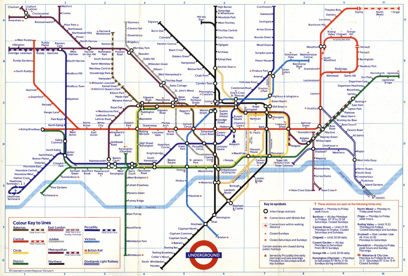 Printable London Subway Map.The London Tube Map Archive Mirror